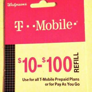 T-Mobile Monthly Plan $30 Refill Top Up (RTR Direct Load to Phone) 1-24 hours