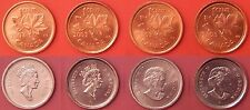 Brilliant Uncirculated 2003 & 2003P Canada 4 Crowned & Uncrowned 1 Cents