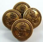 4 x Royal Naval Volunteer Reserve officers Buttons 23mm - GM&S Maker - Navy