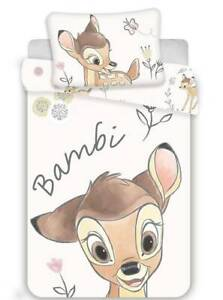 Cotton Bedding Cover Set 100x135 Bambi Deer Flowers to The Crib Pillowcase 40x60