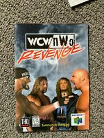 WCW NWO Revenge Wrestling N64 Nintendo 64 Instruction Manual Only Booklet Book
