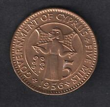 CYPRUS 1956 5 mils BRILLIANT UNCIRCULATED and PERFECT COIN