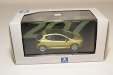 A2 1:43 NOREV PEUGEOT 207 METALLIC YELLOW MINT BOXED