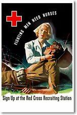 Fighting Men Need Nurses - NEW Vintage Reprint POSTER