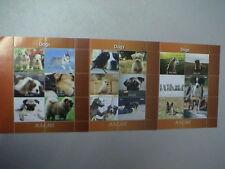 MALAWI 2011 N°3 FOGLIETTI da 6 francobolli cadauno TEMATICA : CANI - DOGS CHIENS