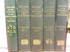 History Of The People of the United States 5 Vol. 1895 McMaster Books!  $