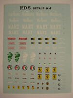 DECALS KIT 1/43 GENERICA N.4 STEMMI ALFA-FERRARI-BMW-PORSCHE NEW