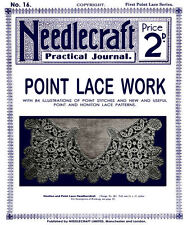 Needlecraft Practical Journal #16 c.1901 Vintage Point Lace Needle Lace Patterns