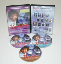 BOB ROSS, 3-disc DVD SET TEACHES 13.WATERFALL BEAUTIFUL OIL Paintings, SEEN TV
