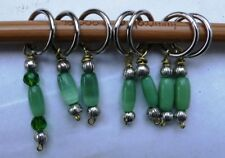 Stitch marker,  knitting or crochetting, pewter & shell