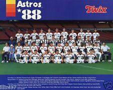 1988 HOUSTON ASTROS BASEBALL 8X10 TEAM PHOTO BIGGIO ANDUJAR NOLAN RYAN BELL