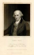 "JAMES WATT   from ""Gallery of Portraits"" 1833"