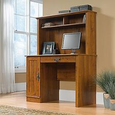 Computer Desk With Hutch - Abbey Oak - Harvest Mill Collection (404961)