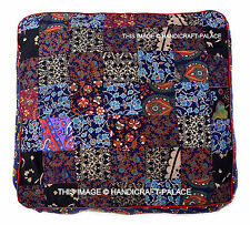 Mandala Patchwork Floor Pillows Indian Square Ottoman Poufs Cushion Dog Bed 35""