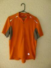 Novara Men's Size Large Short Sleeve Orange Cycling Shirt Jersey Half Zip Front