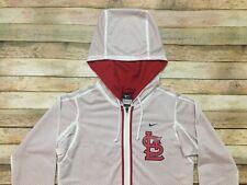 St Louis Cardinals Nike Dri-Fit Hoodie Sweatshirt White MLB Baseball Women Small