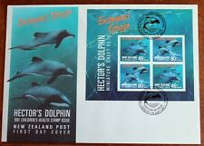 New Zealand – 1991 Health – Hector's Dolphin Minisheet on FDC (Le1)