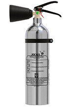 Jockel Design Feuerlöscher 2kg CO2 Kohlendioxid Chrom Silber