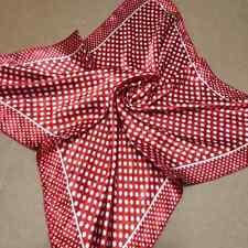 Red dots Soft Neckerchief Shawl Head Bandanas Square Scarf Satin 153R