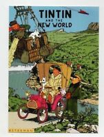 Carte Postale Tintin - TINTIN AND THE NEW WORLD - Pastiche Czarlitz 2017