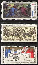 Czechoslovakia 1975 Sc2002-4 Mi2254-6 3v mnh WWII&Soviet-Czechoslovakia Friends