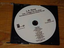 L.A. GUNS - LIVE, A NIGHT ON THE STRIP / ADVANCE-ALBUM-CD 2010