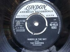 """THE RAMRODS Riders In The Sky - VG+ Cond London 7"""" (1960)"""