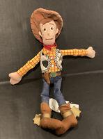 "Authentic Disney Store Pixar SHERIFF WOODY 12"" Plush Rag Doll Toy Story"