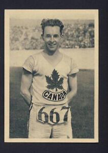 Muratti track & field card - Percy Williams 1928 star sprinter 100m +200m CANADA