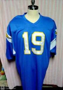 JOHNNY UNITAS UNSIGNED SAN DIEGO CHARGERS JERSEY #19 SIZE 60 RARE!