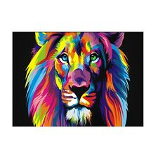 Colorful Lion Canvas Prints Wall Art Oil Painting Animal Home Decor Unframed