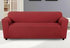 Sure Fit Triangle  One Piece loveseat Slipcover wine  new 1