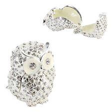 Crystal Sparkly OWL Trinket Box / Ornament Gift *NEW*