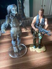 NECA Predator Figure Lot Of 2. Dutch and Predator Clear. Rare, McFARLANE Toys.