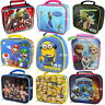 Official Licensed Character Insulated Lunch Bag School Boys Girls Children Gifts