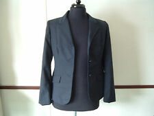 Vintage equestrian blazer by Reed Hill size 14 junior blue pin strip fox buttons