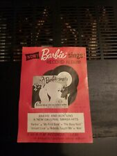 1961 Barbie Sings Record Album Promo Paper Ad Card Sized Flyer