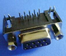 DB9 Female Connector Right Angle PCB mount type x 2PCs