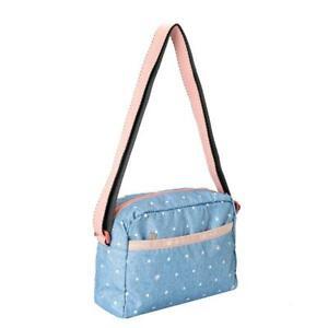 LeSportsac Classic Collection Daniella Crossbody Bag in Denim Dot NWT