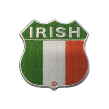 Embroidered Ireland Irish Flag Shield Sew or Iron on Patch Biker Patch