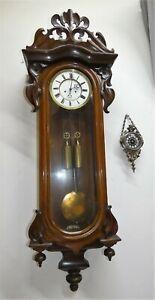 120cm H Jugendstil Tulpe Wiener Vienna Regulator 2xGewischter-19113
