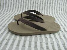 Men's Ocean Minded Brown Tan  Flip Flop Sandals Size 11