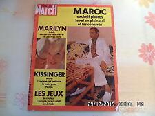 PARIS MATCH N°1217 02/09/1972 MARILYN MONROE JEUX OLYMPIQUES DE MUNICH    J20