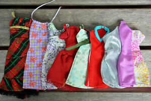 Lot of Clothes Dresses for Barbie Family Dolls - 8 Pieces