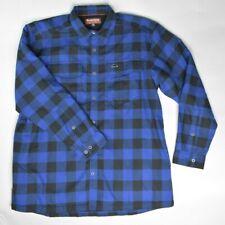 NEW Simms Men's ColdWeather Heavy Flannel Shirt L/S Rich Blue Buffalo Plaid