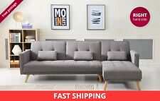 SCANDINAVIAN STYLE EXTRA LARGE 3/4 SEATER SOFA CORNER BED CONTEMPORARY DESIGN
