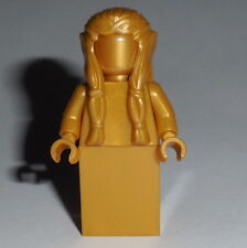 STATUE MINIFIG Lego Female Elf Statue Solid-Plain Pearl Gold NEW LOTR Monochrome
