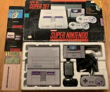 Super Nintendo Super Set Console System CIB Complete in Box SNES w/ Mario World