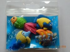 Pack of 4 Fish Shaped Erasers Rubbers Party Bag Treat Eraser Novelty Reef Puzzle