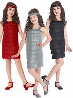 Girls Charleston Flapper Dress Costume Fancy Dress 20s Gatsby Kids Outfit Childs